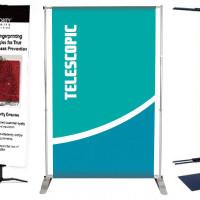 Telescoping Retractable Banner Stand
