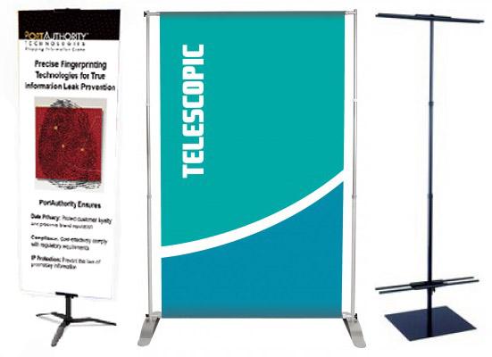 Telescoping Retractable Banner Stand
