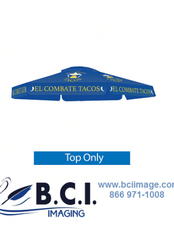 Skycap Umbrella Blue Canopy Graphic Only