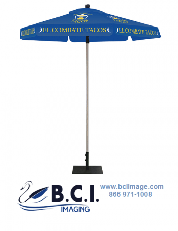 Skycap Umbrella Blue Canopy Graphic Package