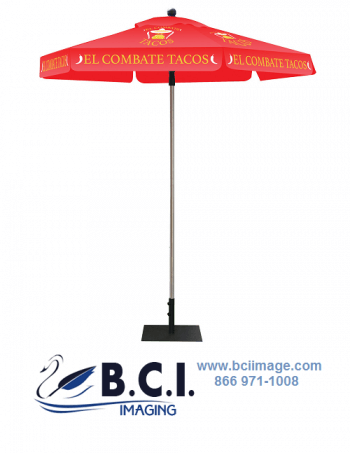Skycap Umbrella Red Canopy Graphic Package