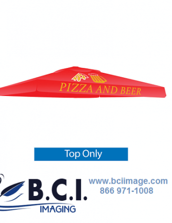 Skycap Umbrella Red Canopy Graphic Only