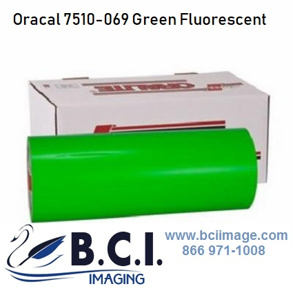 Orafol Oracal 7510 069 Green Fluorescent Premium Cast Vinyl