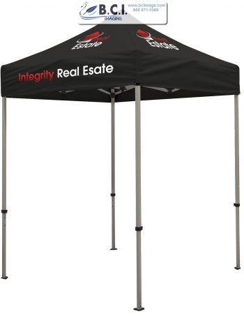 Deluxe 6' Tent Kit (Full-Color Imprint, Three Locations)