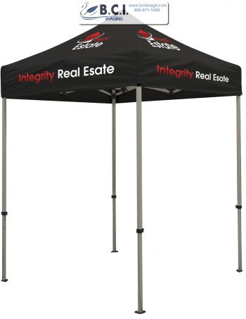 Deluxe 6' Tent Kit (Full-Color Imprint, Eight Locations)